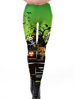 Fashion digital print Halloween limited casual leggings sale, clothes shopping near me, pink leggings, red leggings