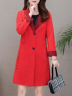 Medium long temperament slim single-breasted jacket clothing stores, online, Long Coats, winter jackets for women on sale, winter clothes for women