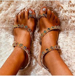Bohemian flat sandals shop, clothing stores,
