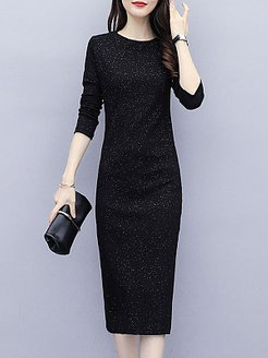 Round Neck Plain Bodycon Dress stores and shops, fashion store, Solid Bodycon Dresses, bodycon mini dress, backless dress