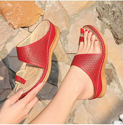 vintage bohemian cutout wedge slippers online, fashion store,