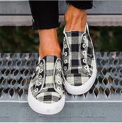 Casual Women Plaid Breathable Comnfortable Sneakers cheap online shopping sites, cheap online stores, Grid Sneakers,
