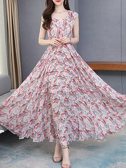 Round Neck Printed Maxi Dress online sale, shoppers stop, printing Maxi Dresses, long formal dresses, sequin dress