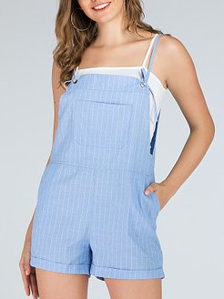 Casual plus size striped loose overalls jumpsuit shorts online, fashion store, rompers, long sleeve jumpsuit