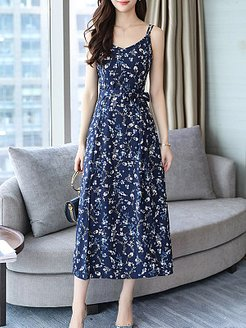 Spaghetti Strap Printed Maxi Dress sale, cheap online shopping sites, printing Maxi Dresses, long sleeve maxi dress, homecoming dresses