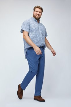 Big & Tall Stretch Washed Chinos Extended Sizes Pants Straight Fit by Bonobos - Mystics