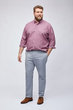 Big & Tall Stretch Washed Chinos Extended Sizes Pants Straight Fit by Bonobos - Thunder