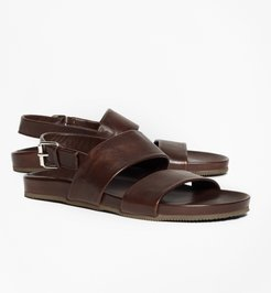 Double Strap Leather Sandals