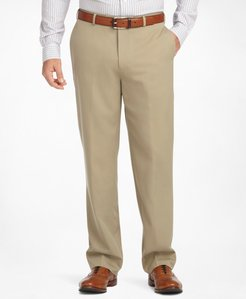 Regular Fit Flat-Front Classic Gabardine Trousers