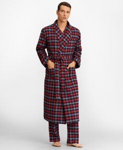 Red Plaid Flannel Robe