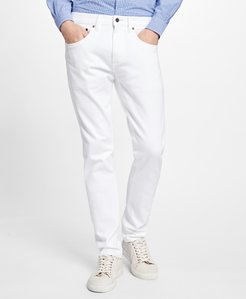 116 Slim Fit White Denim Jeans