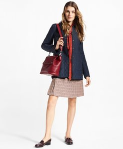 Water-Repellent Diamond-Quilted Car Coat