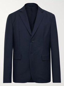 Slim-Fit Unstructured Wool and Mohair-Blend Blazer - Men - Blue