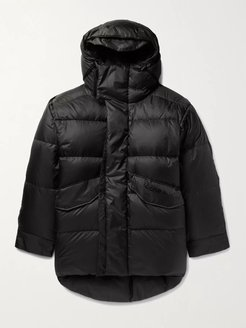Osiris Oversized Quilted Nylon Hooded Down Jacket - Men - Black