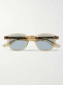 Momza Sun Square-Frame Acetate Sunglasses - Men - Brown