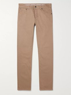 Slim-Fit Stretch-Denim Jeans - Men - Neutrals