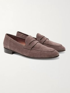 Chessing Suede Penny Loafers - Men - Brown