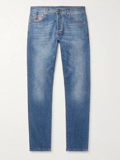 Slim-Fit Stretch-Denim Jeans - Men - Blue