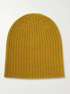 Ribbed Cashmere Beanie - Men - Yellow