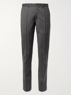 Tapered Wool Trousers - Men - Gray