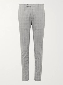 Slim-Fit Prince of Wales Checked Woven Trousers - Men - Gray
