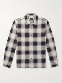 Checked Cotton Shirt - Men - Gray