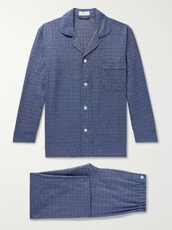 Prince of Wales Checked Cotton Pyjama Set - Men - Blue