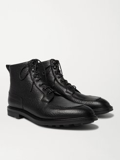 Cranleigh Shearling-Lined Suede Boots - Men - Black