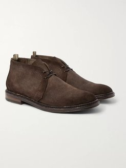 Hopkins Burnished-Suede Chukka Boots - Men - Brown
