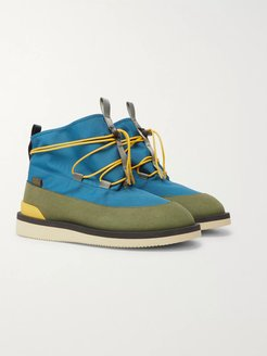 Aimé Leon Dore Hobbs Faux Shearling-Lined CORDURA and PU Boots - Men - Blue