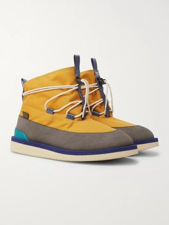 Aimé Leon Dore Hobbs Faux Shearling-Lined CORDURA and PU Boots - Men - Yellow