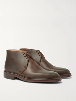 Nathan Distressed Leather Chukka Boots - Men - Brown