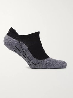 RU4 Stretch-Knit No-Show Socks - Men - Black