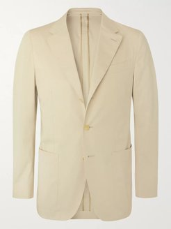 Light-Beige Butterfly Cotton-Blend Suit Jacket - Men - Neutrals