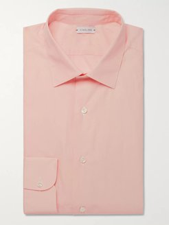 Slim-Fit Cotton-Poplin Shirt - Men - Pink