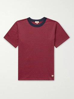 Striped Cotton-Jersey T-Shirt - Men - Red