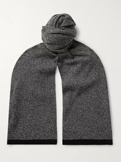 Evers Contrast-Tipped Mélange Cashmere Scarf - Men - Gray