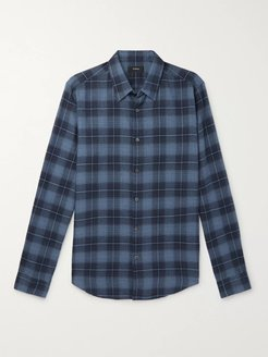 Irving Checked Cotton-Flannel Shirt - Men - Blue