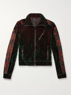 Oversized Iridescent Velvet Track Jacket - Men - Multi