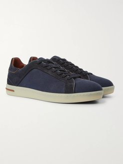 Traveller Suede and Canvas Sneakers - Men - Blue
