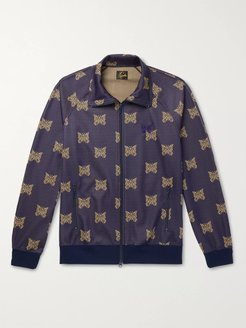 Tech-Jersey Jacquard Track Jacket - Men - Purple