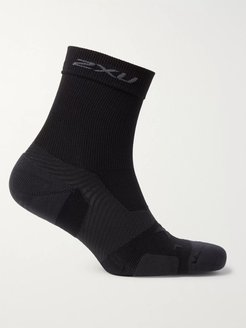 Vectr Cushioned Stretch-Knit Crew Socks - Men - Black