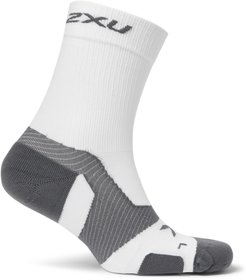 Vectr Cushioned Stretch-Knit Crew Socks - Men - White