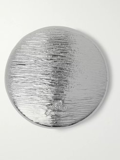 Textured Sterling Silver Badge - Men - Silver