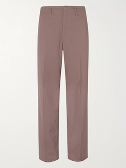 Twill Trousers - Men - Brown