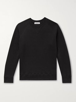 Fleece-Back Cotton-Jersey Sweatshirt - Men - Black