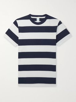 Striped Cotton-Jersey T-Shirt - Men - Blue