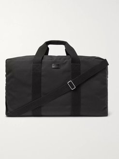 Leather-Trimmed Canvas Holdall - Men - Black