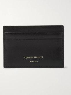 Leather Cardholder - Men - Black