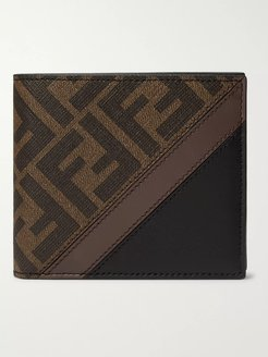 Logo-Print Coated-Canvas and Leather Billfold Wallet - Men - Brown